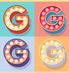 Letter g vector