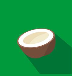 Coconut cartoon flat icon brazil vector