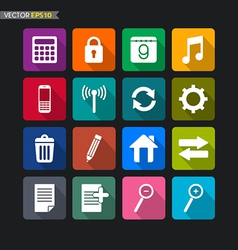 Website icons collection set 2 vector