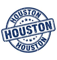 Houston blue grunge round vintage rubber stamp vector