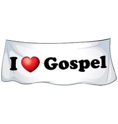 I love Gospel vector image