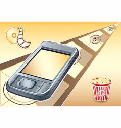 PDA  movies device vector image