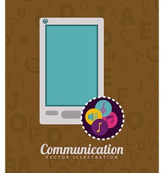 Communication design vector