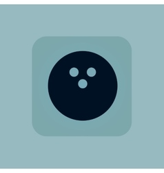Pale blue bowling icon vector