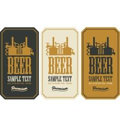 Beer label set vector image