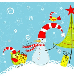Template christmas greeting card vector
