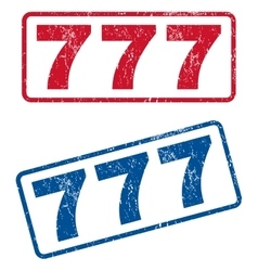 777 rubber stamps vector