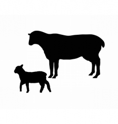 Silhouettes of a sheep vector