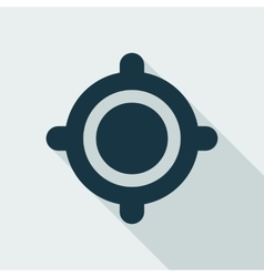 Gps target location flat icon vector