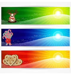 Abstract christmas banners for your design header vector image vector image