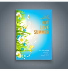 Blue summer template vector
