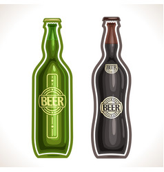 Bottles beer vector
