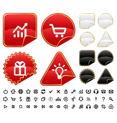 Buttons and signs set vector image vector image
