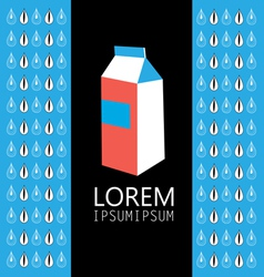 carton of milk sign vector image