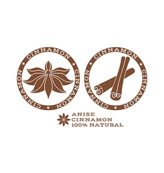Cinnamon label vector