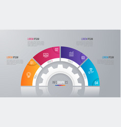 Circle chart template for infographics 4 vector