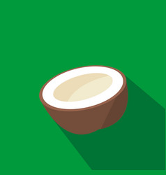 Coconut cartoon flat icon brazil vector