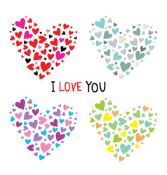 collection hearts for your design vector image vector image