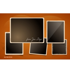 Collection of grunge foto frames vector