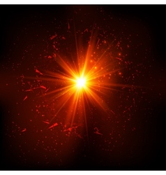 Dark red space explosion vector image vector image