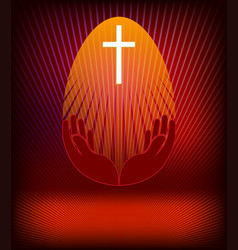 design with easter egg scarlet vector image vector image