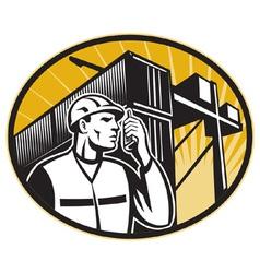 dock worker vector image