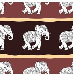 Elephants seamless pattern vector