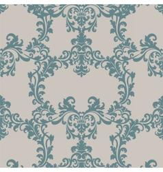 Floral baroque ornament damask pattern vector