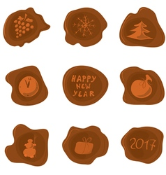 for sealing holiday greetings vector image