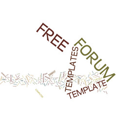 Free forum templates text background word cloud vector