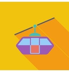 Funicular railway vector