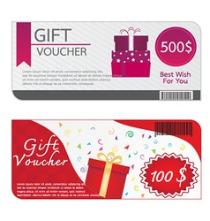 Gift Voucher Template Designs vector image vector image