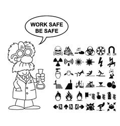 Hazard and danger Graphics vector image