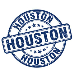 Houston blue grunge round vintage rubber stamp vector