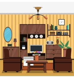 Interior Concept Flat vector image vector image