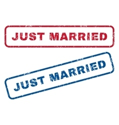 Just Married Rubber Stamps vector image