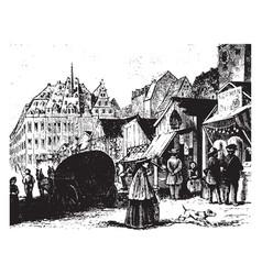 leipzig vintage vector image