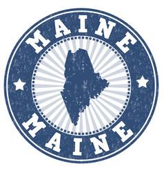 Maine stamp vector