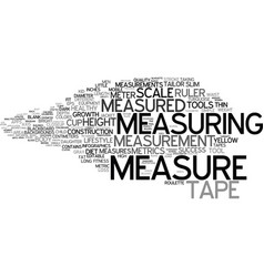 Measured word cloud concept vector
