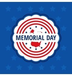 Memorial day label vector image vector image