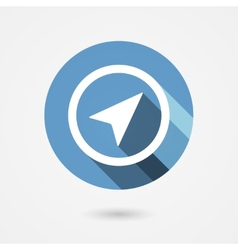 navigation icon vector image