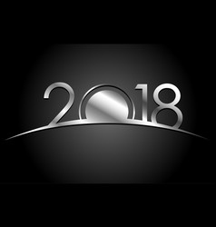 new year 2018 concept - sunrise with digits vector image vector image