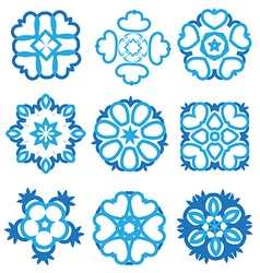 Nice abstract flower elements vector
