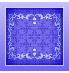 Paper frame with lace ornament vector image vector image