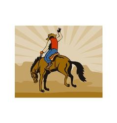 Rodeo cowboy vector