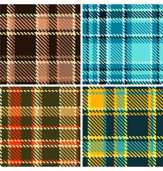 Seamless Checkered Pattern Set vector image vector image