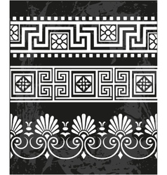 Set antique greek ornaments vector image