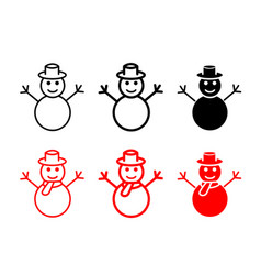 Set of snowman icons and symbol vector