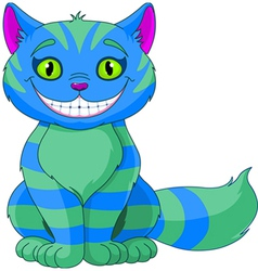Smiling cheshire cat vector