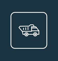 truck outline symbol premium quality isolated vector image vector image
